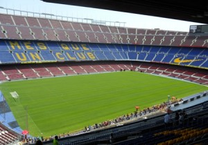 Estadio Camp Nou en Barcelona